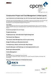 Construction Project and Cost Management Limited