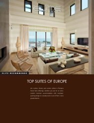 TOP SUITES OF EUROPE - Elite Traveler