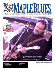 TOP BLUES - Toronto Blues Society