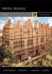 Hotel Russell Conference Brochure - Principal Hayley