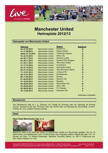 Manchester United Heimspiele 2012/13 - DERTOUR Live