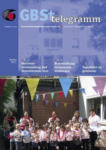 Kinder… - Gemeinnützige Baugenossenschaft Steglitz eG