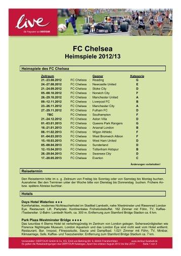 FC Chelsea Heimspiele 2012/13 - DERTOUR Live
