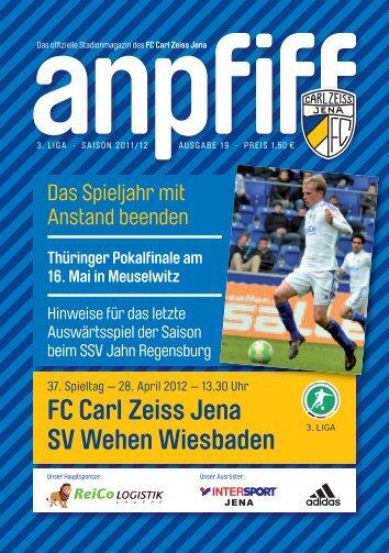 FC Carl Zeiss Jena SV Wehen Wiesbaden