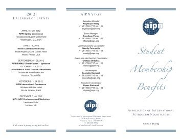 Download the Student Membership Benefits brochure here. - AIPN
