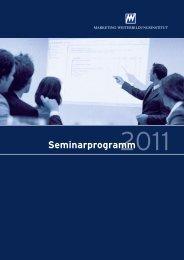 Seminarprogramm - Marketing-Club Essen eV