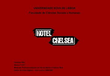 Hotel Chelsea - Informação Pessoal