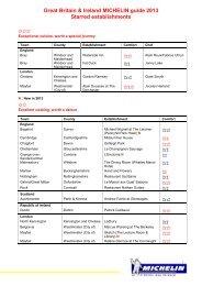 Great Britain & Ireland MICHELIN guide 2013 ... - Gourmet Globe