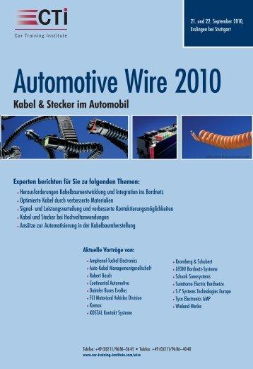 Kabel & Stecker im Automobil - IIR Deutschland GmbH