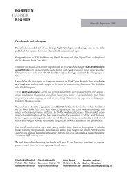 FOREIGN HANSER RIGHTS - Hanser Literaturverlage