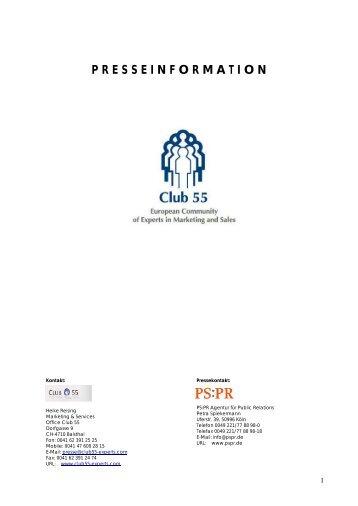 presseinformation - Club 55