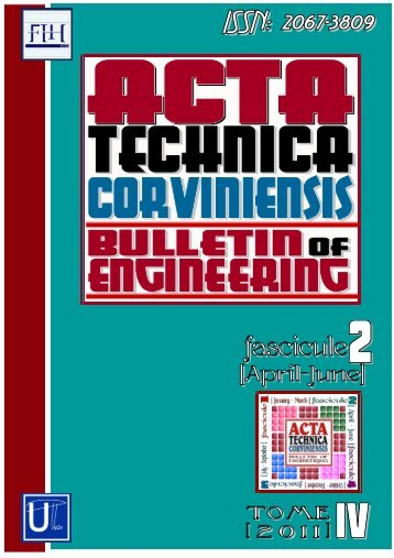 ACTA TECHNICA CORVINIENSIS - Bulletin of Engineering
