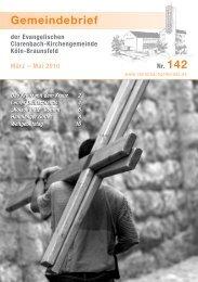 Gemeindebrief 142 - Den Lebendigen Adventskalender 2012
