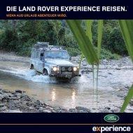 Die lanD RoveR expeRience Reisen.