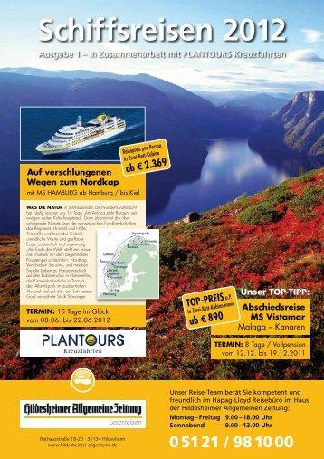 Schiffsreisen 2012 Ausgabe 1