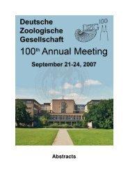 Contents - Deutsche Zoologische Gesellschaft