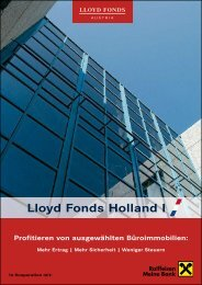 Lloyd Fonds Holland I - Raiffeisen