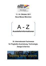14. Oktober 2011 Neue Messe München 18. Internationale ... - Meplan