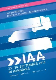 23.–30. SEPTEMBER 2010 IN HANNOVER - IAA