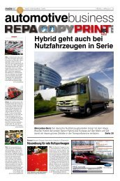 Hybrid geht auch bei Nutzfahrzeugen in Serie - MediaNET.at