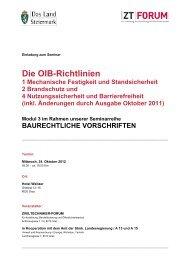 Die OIB-Richtlinien 1 Mechanische Festigkeit und Standsicherheit 2 ...