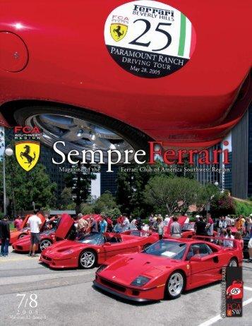 Sempre Jul-Aug 05d.qxd - Ferrari Club of America - Southwest Region