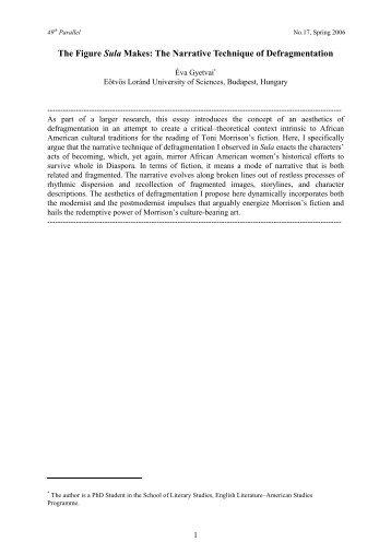 The Figure Sula Makes: The Narrative Technique of ... - 49th Parallel