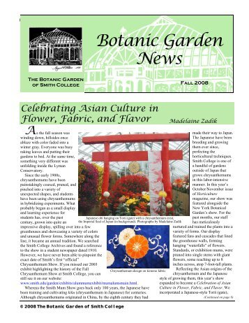 Fall 2008 Botanic Garden News - Smith College