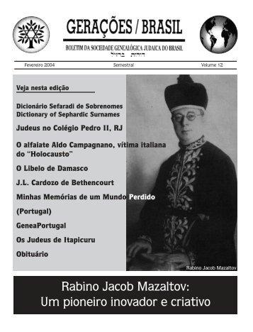 Dicionário Sefaradi de Sobrenomes - Arquivo Histórico Judaico ...