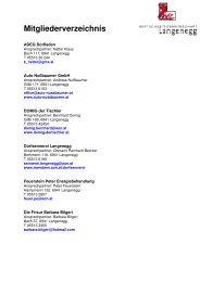 Mitgliederverzeichnis - Langenegg