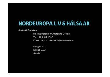 Nordeuropa Liv & Hälsa AB - Lloyd's