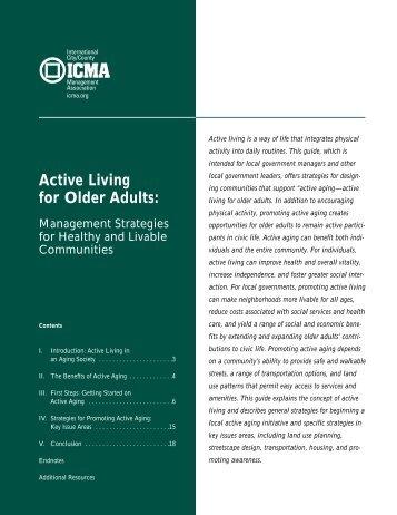 04-031 Aging & Active Liv II - Bookstore - ICMA