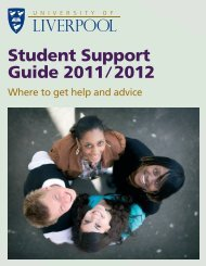 Student Support Guide 2011 2012 - University of Liverpool