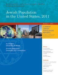 Jewish Population in the United States 2011 (North American ...