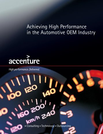Achieving High Performance in the Automotive OEM Industry
