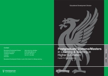 Learning & Teaching in Higher Education - University of Liverpool