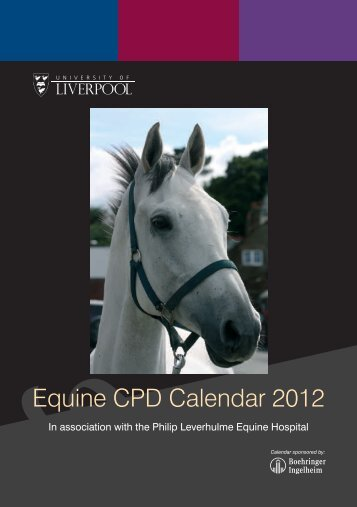 Equine CPD Calendar 2012 - University of Liverpool