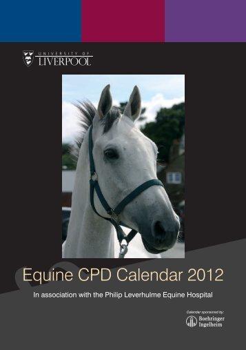 Equine CPD Calendar 2012 - University of Liverpool