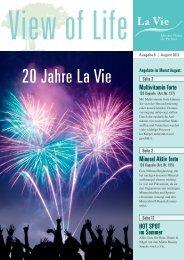 View of Life | Ausgabe 8 | August 2012 - La Vie