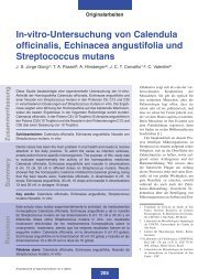 In-vitro-Untersuchung von Calendula officinalis, Echinacea ...