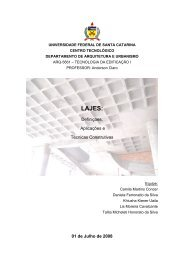 lajes - Arquitetura e Urbanismo - UFSC