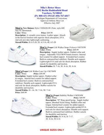 Mike's Better Shoes 1252 Berlin Haddonfield Road Voorhees, NJ ...
