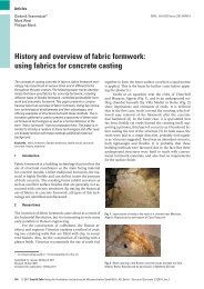 History and overview of fabric formwork - BLOCK Research Group