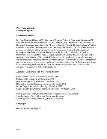 Full CV - Exponent