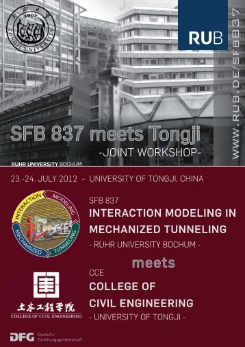 Interaction Modeling in Mechanized Tunneling - SFB 837