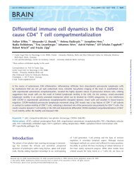Differential immune cell dynamics in the CNS cause CD4 T ... - Brain