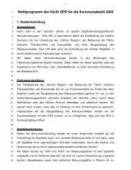 Wahlprogramm der Hürth SPD für die ... - David Boventer