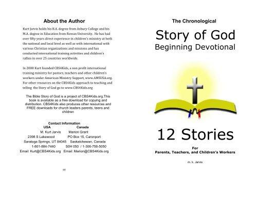 Chronological Bible Storying - Biblical Studies Foundation