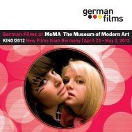 MoMA 2012 - German Films