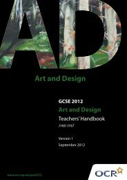 GCSE 2012 Art and Design - OCR